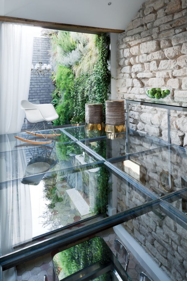 Glass floor on the top level steal the show