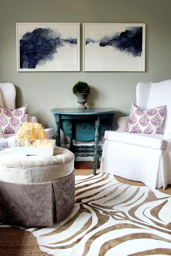 Gold zebra print rug DIY