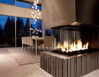 34 Modern Fireplace Designs With Glass For The Contemporary Home