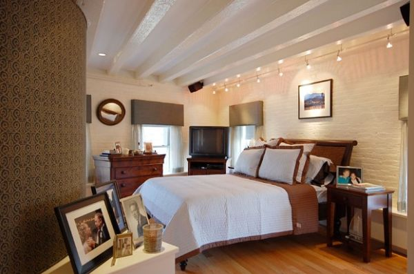 View In Gallery Gorgeous Track Lighting For Contemporary Bedroom