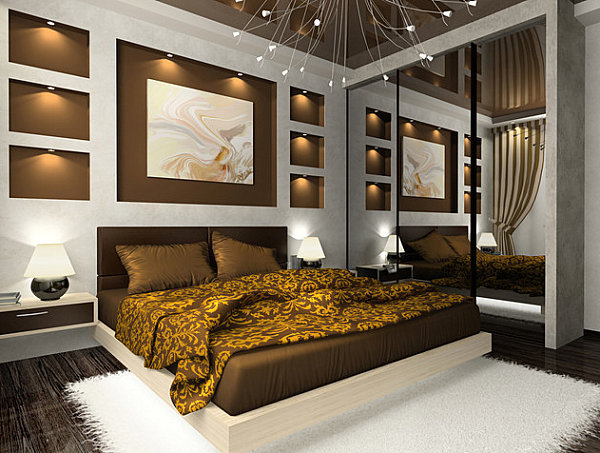 View In Gallery Grand Mirrored Closet Doors In A Modern Bedroom