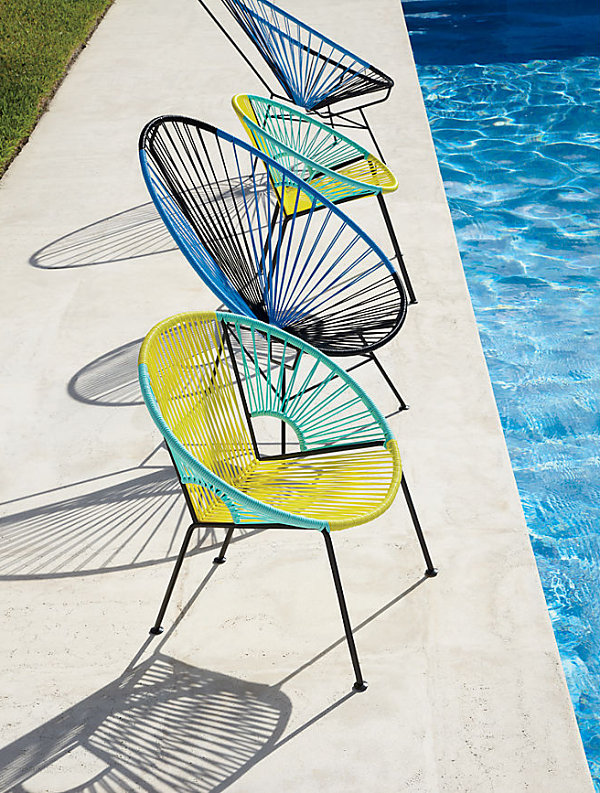 Handwoven modern chairs 12 Stylish Outdoor Furniture Finds