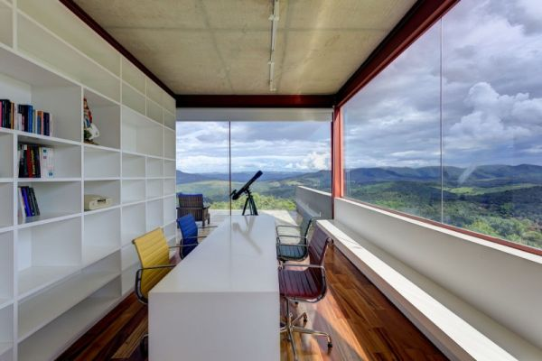 Home office space with ample natural ventilation