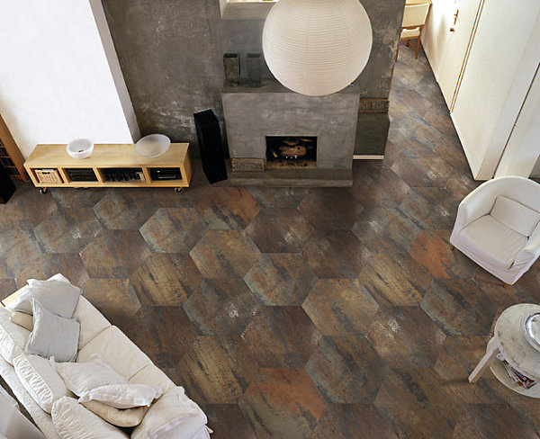 Honeycomb floor tile