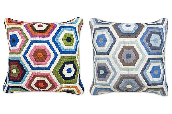 Honeycomb pillows from Jonathan Adler