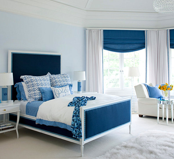 view in gallery ice blue bedroom - Blue Bedroom Interior Design