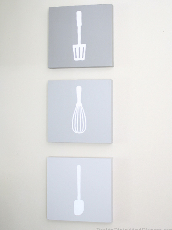 Kitchen utensil wall art