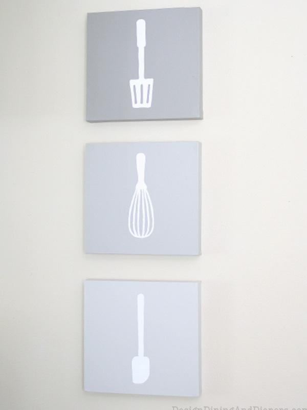 Kitchen utensil wall art