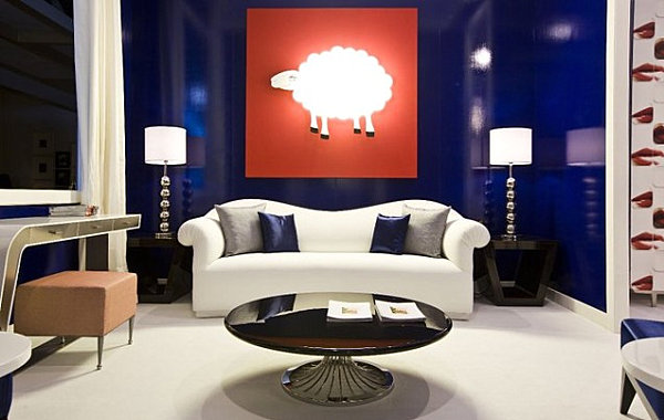 Lacquered furniture in a glamorous room