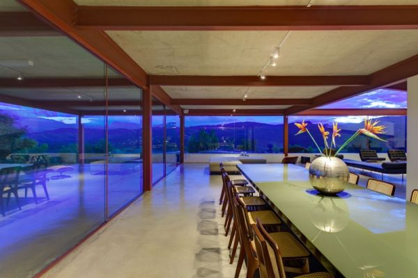 Large dining space with views of surrounding landscape
