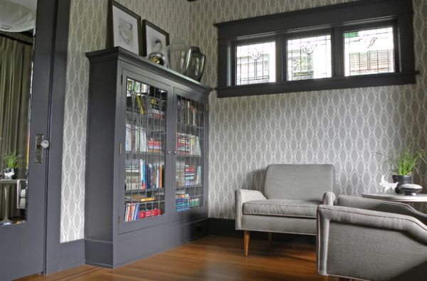 Lovely way to design a small library space