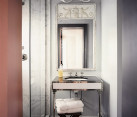 Luxury touches in a modern vintage bathroom