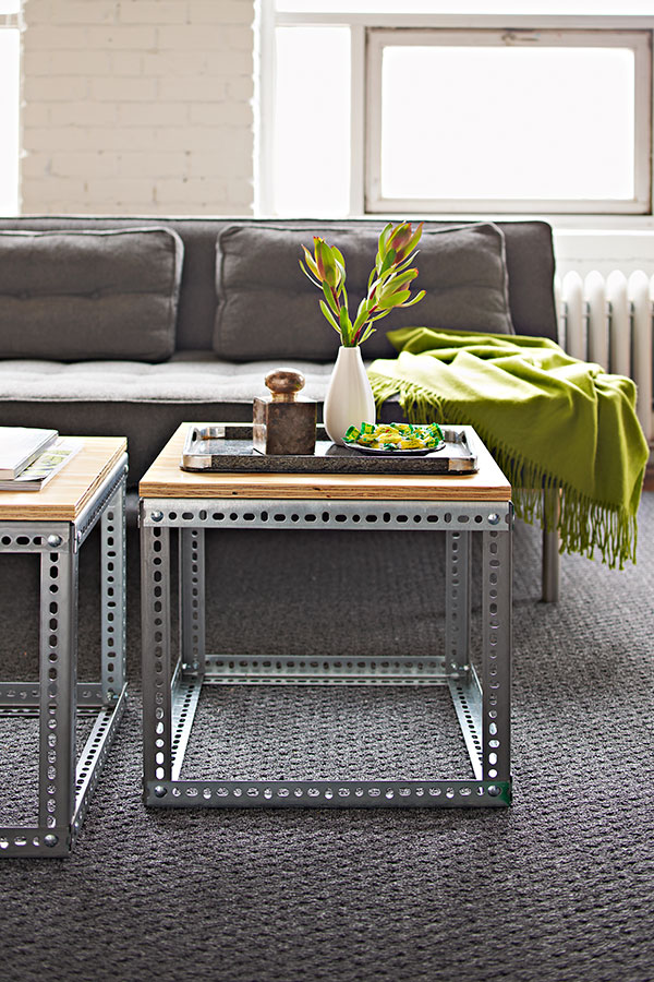 View In Gallery Modern Industrial DIY Coffee Table