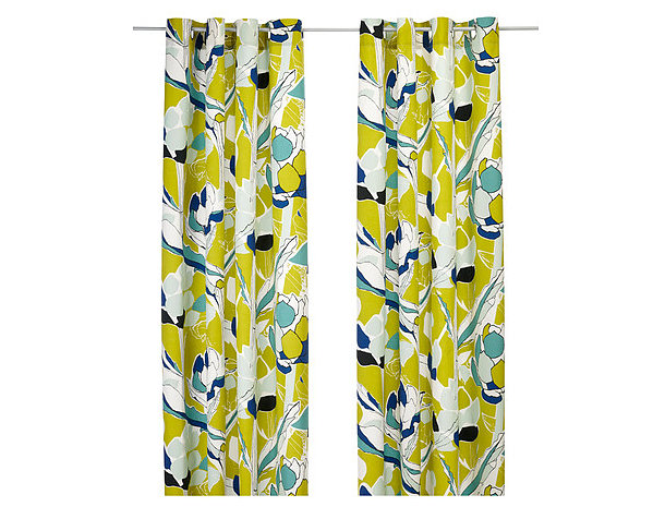 Modern abstract floral curtains