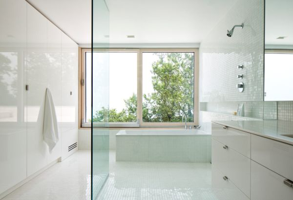 Modern bathrooms offer a relaxed setting