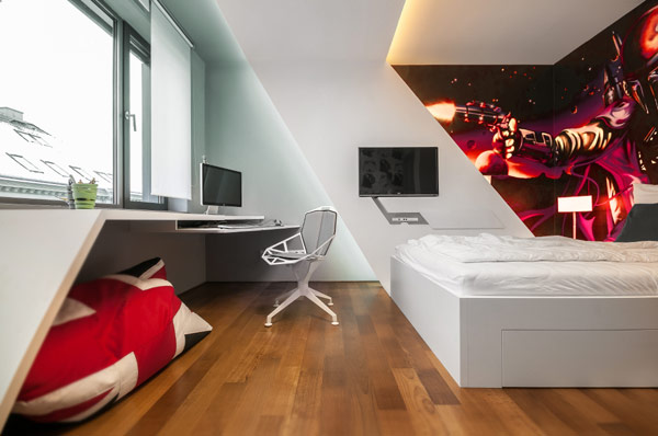 Modern boys bedroom with impressive Star Wars theme Fabulous Contemporary Kids Bedrooms Steal The Show With An Exciting Design