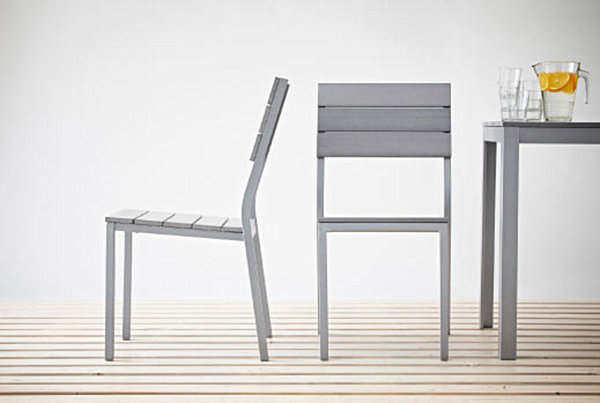 Modern chair and table set for the outdoors