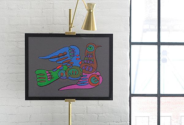Modern dove artwork