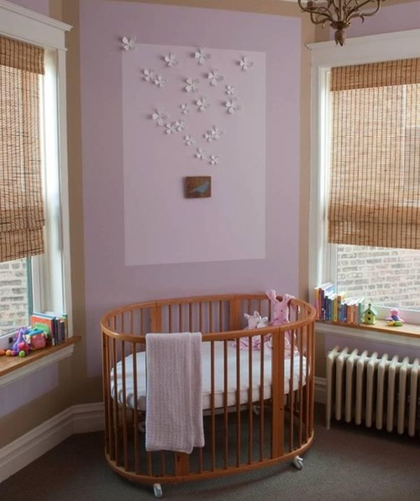 Angel Themed Design For A Baby Girl S Nursery: 26 Round Baby Crib Designs For A Colorful And Cozy Nursery