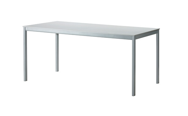 Modern metal outdoor table