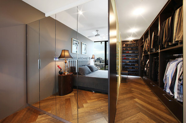 View In Gallery Modern Mirrored Closet Doors