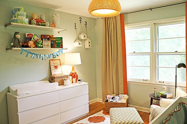 Tips for decorating a small nursery for Modern nursery decor