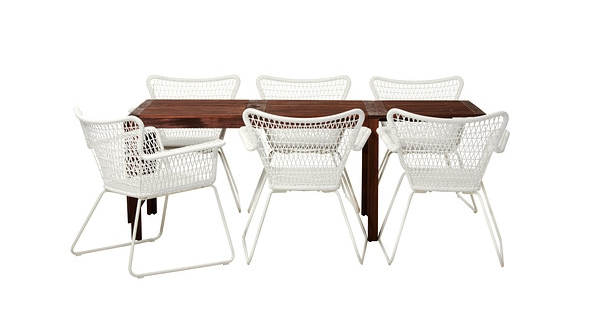 Modern outdoor table and chair set