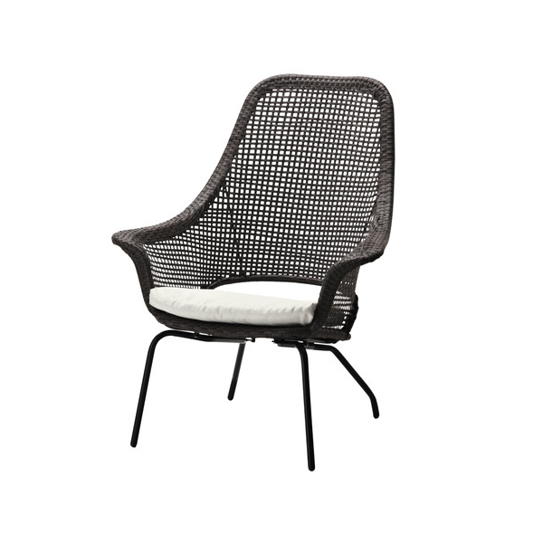 Modern rattan outdoor chair