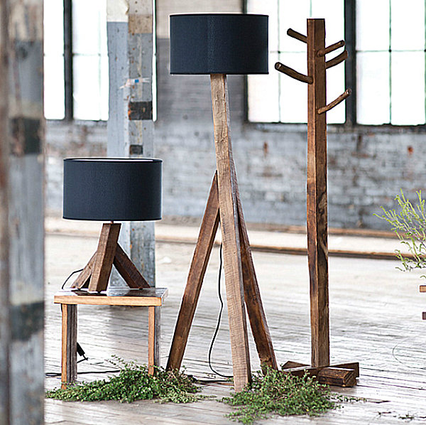 View In Gallery Modern Reclaimed Wood Lamps