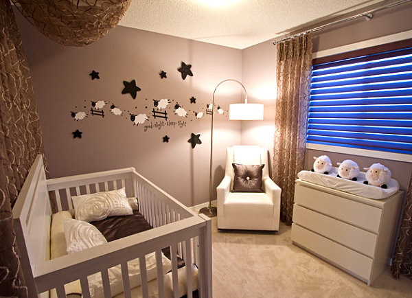 Modern sheep-themed nursery