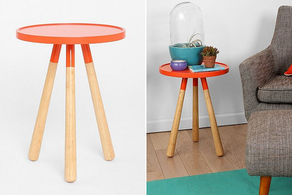 Modern tripod side table
