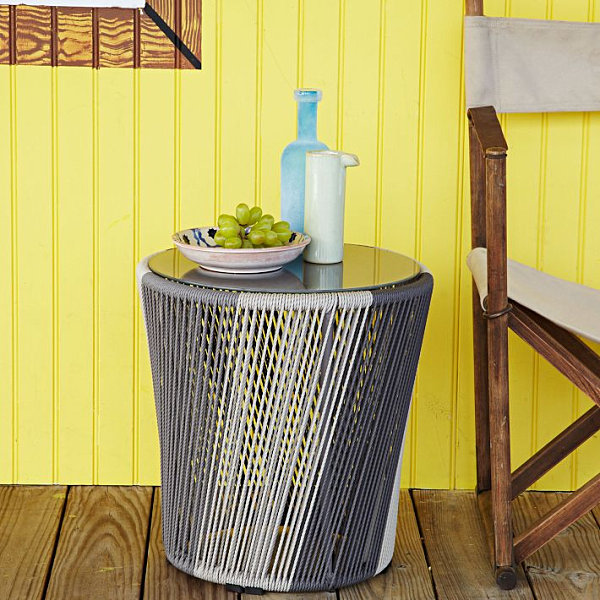 Modern woven side table The 12 Best Side Tables for Spring