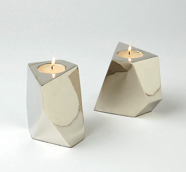 Nickel votive candleholders