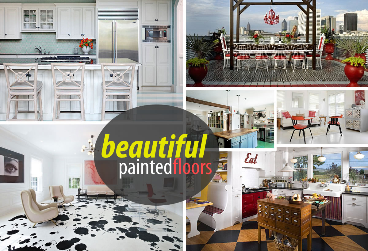 Painted Floors with Modern Style