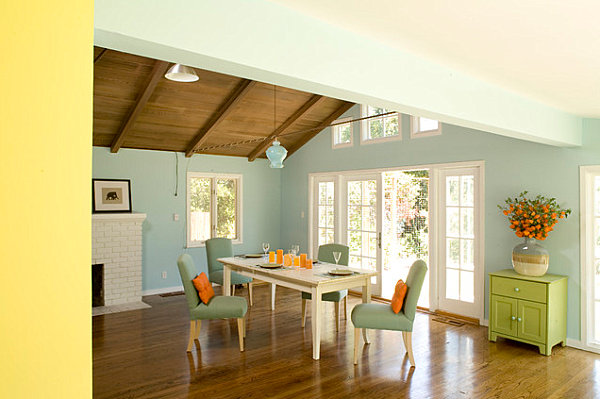 Merveilleux View In Gallery Pastel Dining Room With Bright Accents
