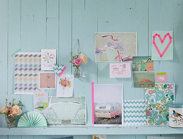 View In Gallery Pastels With Neon Accents