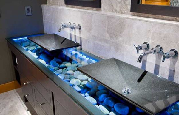Pebbles and small stones for a natural interior design 1 Stunning Visual Appeal: Natural Stone Pebbles in Interior Design