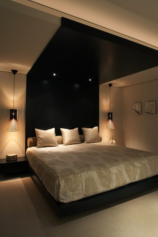 Plush bedroom with smart lighting
