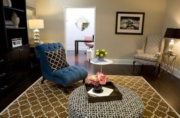 Plush surfaces bring in a sense of luxury