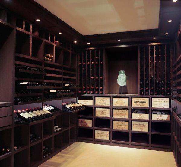 Ravishing wine cellar presents a refined look