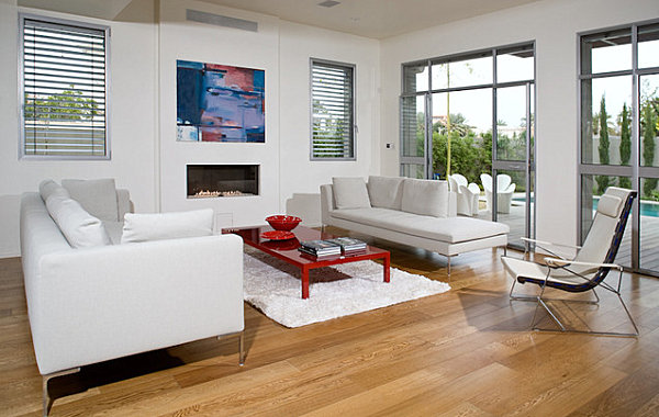 View In Gallery Red Lacquered Coffee Table