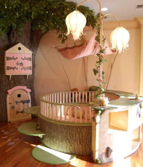 Round crib perfect for a fairy tale themed room