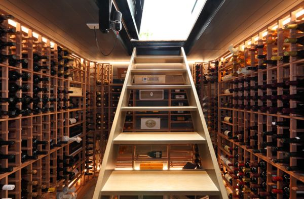 Simple and elegant way to transform your basement into a wine cellar