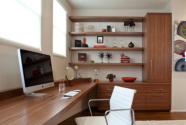 Sleek storage in a home office Organizing Your Home Office