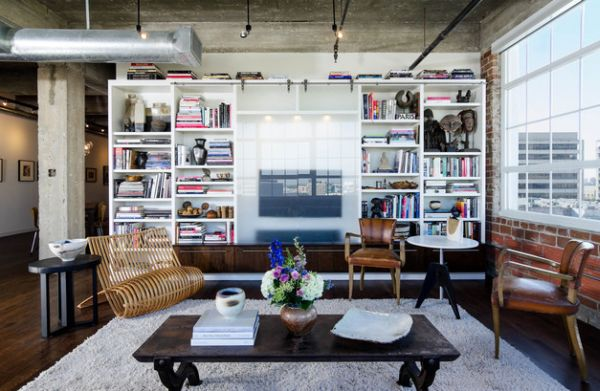 15 inspiring bookcases with glass doors for your home for Decoration loft industriel