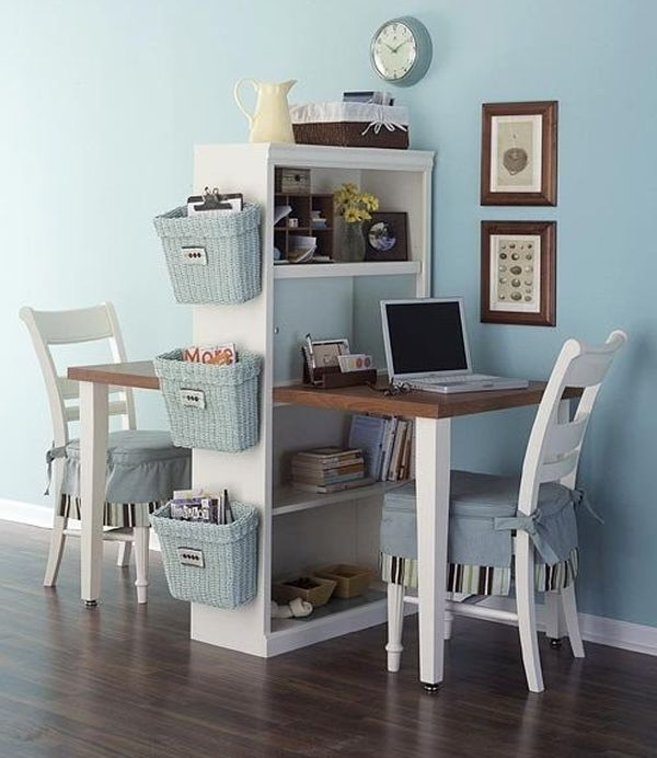 Small Space Office Ideas Two Desks 600 x 692