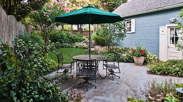 Small backyard with patio space