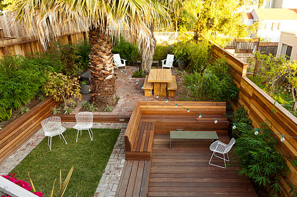 The art of landscaping a small yard for Garden design decking areas