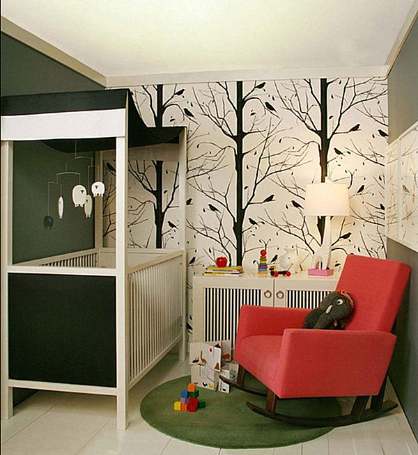 View In Gallery Small Nursery With Contemporary Flair