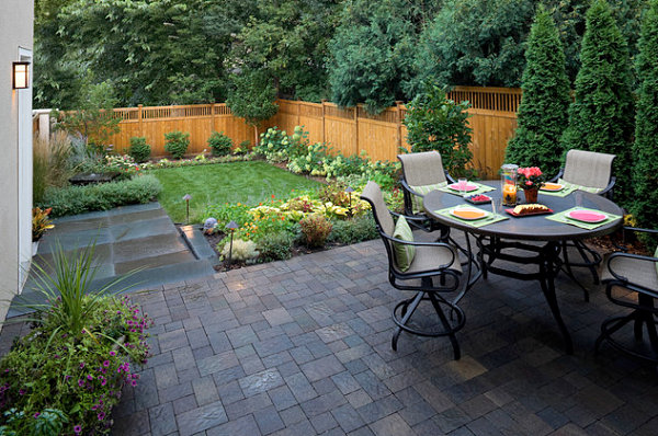 Small yard with a patio